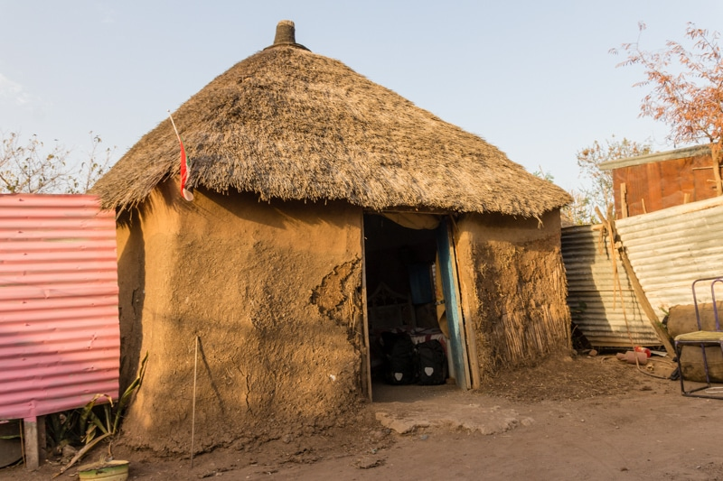 traditional house in Qadarif, Sudan