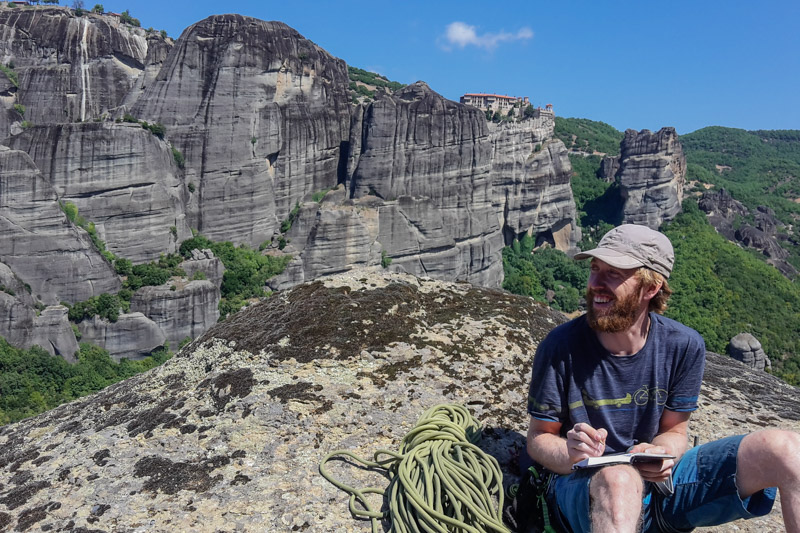 Climbing in Meteora is always and adventure and it is not so much about the climbing itself, but the adventure on the rock.