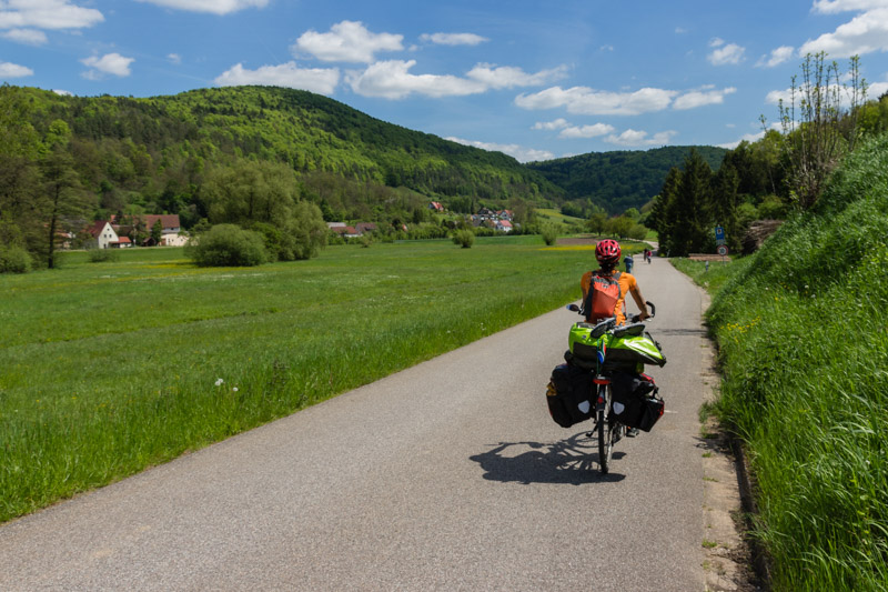 Not just climbing is great in Frankenjura, also cycling is an enjoyment.