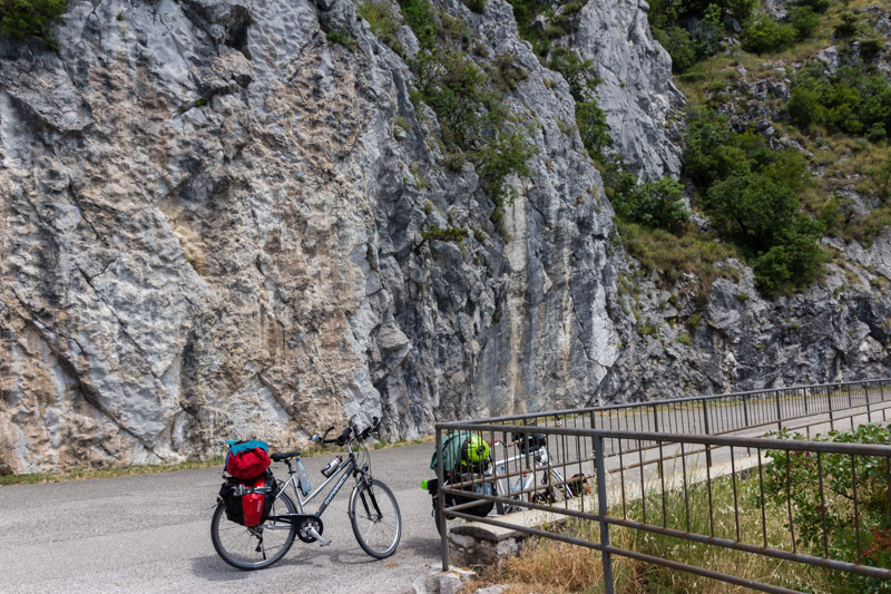Climbing Napolenica - perfectly accessible by bicycle, but also long ride up.