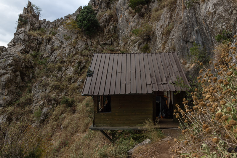 Perfect holiday house up at the climbing crag of Mouzaki. Build by the local climbers and it can be used for free.
