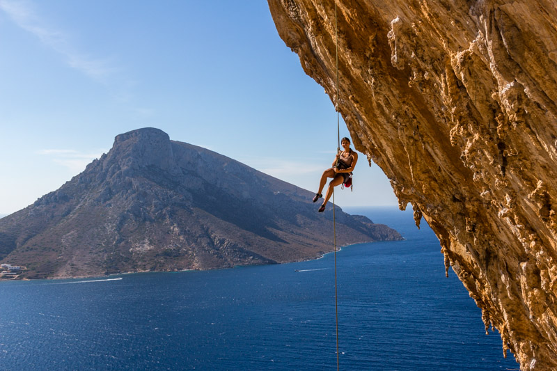Hanging around in the Grande Grotta. Climbing on Kalymnos is just fantastic.