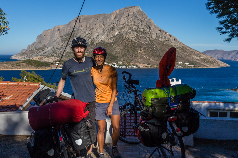Cycling and rock climbing at the same time is possible, and we even made it to Kalymnos in Greece.